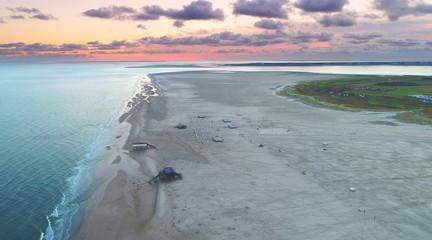 Wall Mural - Luftaufnahme Wattenmeer Sankt Peter Ording Strand