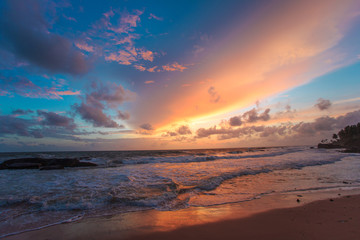 Tropical sunset of Sri Lanka