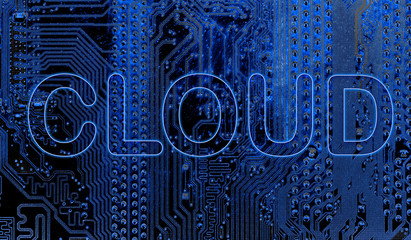 Abstract,close up of Mainboard Electronic computer background.  (cloud storage)   cloud ,storage