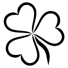 Plant with three leaves in the shape of heart, clover
