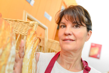 saleswoman in bakery