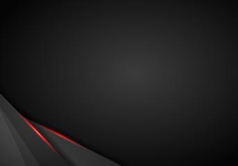abstract metallic black Red frame sport design concept innovation background.