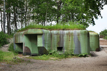 Fortifications near Jastarnia. Hel Peninsula. Poland