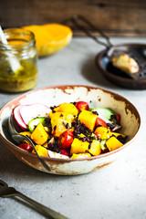 Mango with Riceberry,Goji berry and Radish Salad