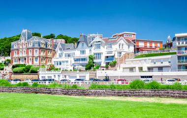Fotomurales - Le Havre, maison typiques en Normandie, France