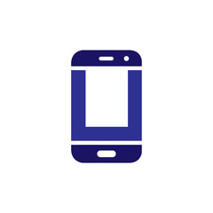 U Initial letter with Smart phone logo icon vector