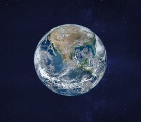 view of planet Earth from space, original image furnished by NASA