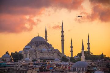 Ciudad de vieja de Estambul con Bósforo,Turquia