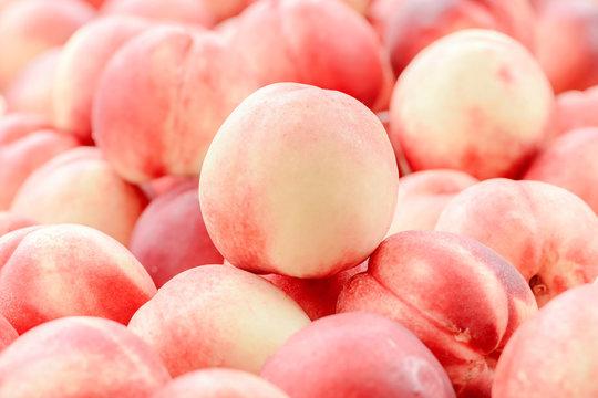 Peach close up fruit background