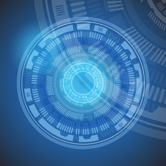 Circle of blue technology abstract background, esp10