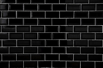 Black ceramic tiles, Wallpaper and background concept. Fototapete