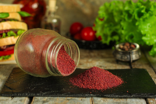 sumac - spices. food background