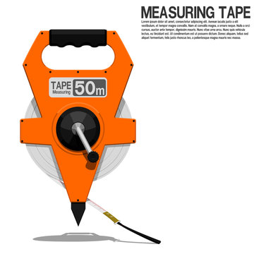 Isolated measuring tape on transparent background