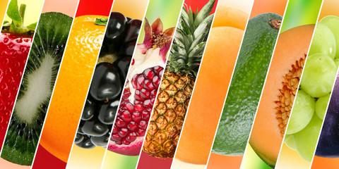 Diferentes frutas, com diferentes texturas e cores
