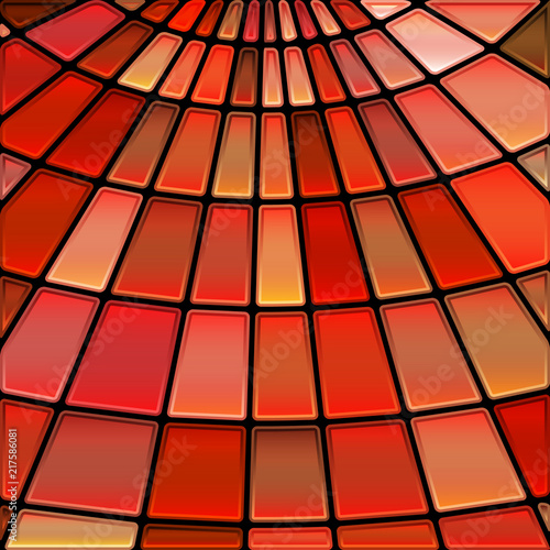 Abstract Vector Stained Glass Mosaic Background Stock Image