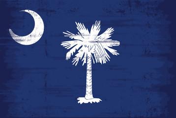 South Carolina grunge flag