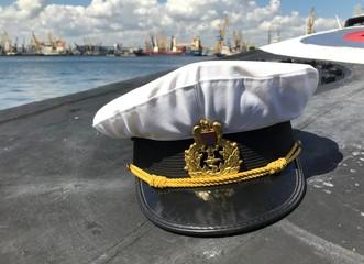 Romanian Navy Hat On Submarine Deck