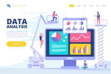 Data analysis design concept. Vector illustration.