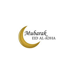 Islamic religion holliday golden crescent moon illustration