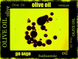 balsamic vinegar and olive oil border