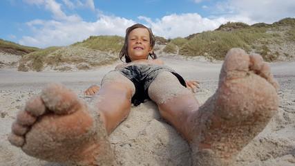 Kid Enjoying the Beach