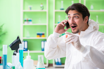 Chemist working in the lab on new experiment