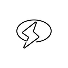flash chat logo template monoline vector download eps10