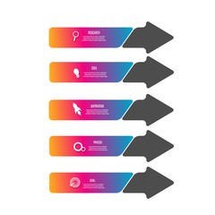 Creative modern infographic template design vector