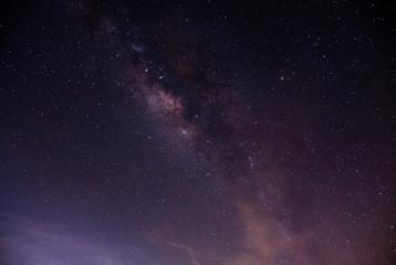 milky way galaxy on the sky