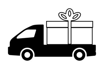 The truck is carrying a gift.
