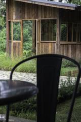 Eco friendly suburban street cottage
