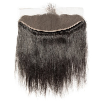 Straight black human hair weaves extensions lace frontal closure