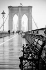 Brooklyn Bridge in Rain, Study 1