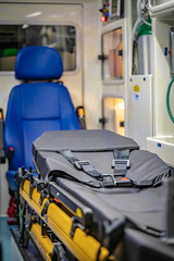 Emergency Bed With Medical Supplies