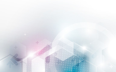 Wall Mural - Abstract hexagon technology digital hi tech concept background. Space for your text