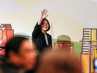 Taiwanese President Tsai Ing-wen attends the Los Angeles Overseas Chinese Banquet during visit in Los Angeles