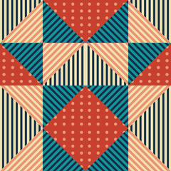 Memphis triangle seamless pattern background with colorful vintage style.