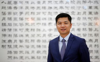 Qu Yuhui, Minister-Counselor at the Chinese embassy in Brazil, poses for a picture after an interview with Reuters in Brasilia