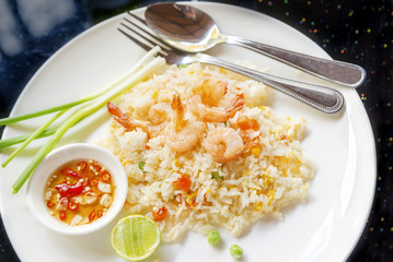 Fried Rice with Shrimp delicious Thai food