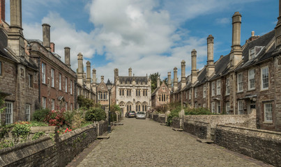 Historic Residential Street in the Quintessentially English Market Town of Lincoln, home to Lincoln Cathedral and the Magna Carta Fotomurales