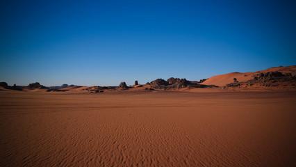 Sunrise view to Tin Merzouga dune, Tassili nAjjer national park, Algeria