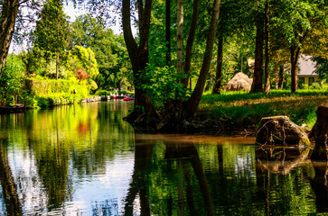 Spreewald near Berlin, Germany - Nature Reserve and   Biosphere Reserve- Magnificent meadows and moorland and fairytale idyll, it gets really romantic on a leisurely boat trip through the tiny canals.