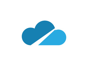 Cloud logo symbols vector