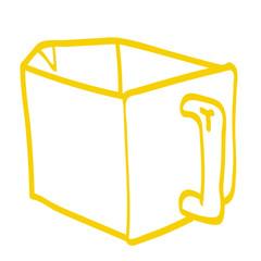 Handgezeichnete Schütte in gelb