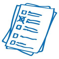 Handgezeichnetes Formular in dunkelblau