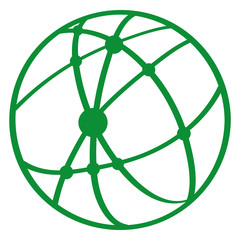 Handgezeichnetes Netzwerk in grün