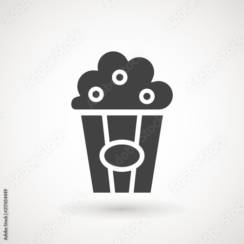 Popcorn Icon Single High Quality Symbol Of Fast Food For Web Design