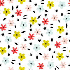 Fototapete - Abstract bright flower pattern