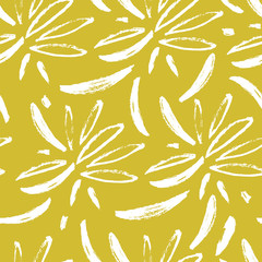 Fototapete - Abstract seamless pattern with hand-drawn elements