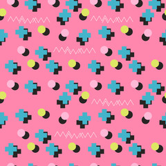 seamless memphis abstract pattern simple background